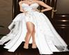 Lace Long Dress White