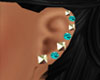 *Studs Diamond Turquoise