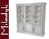MLK Gray China Cabinet