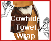 Cowhide Towel Wrap