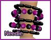 Plum & Black Beads