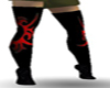 red tribal stiefel