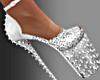 Silver Stud Stiletto