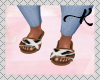 L. Fur Chestnut Slides