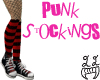 [LL]Punk Stockings Red