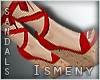 [Is] Wedge Sandals Red