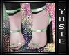 ~Y~Glamour Emerald Heels