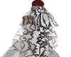 blk & white Lace veil
