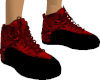 RED SNAKESKIN TRAINERS F