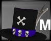 Skull Top Hat M.