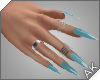 ~AK~ Nails: Silver/Blue