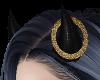 Gold Glitter Halo Horn