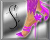 Violet Lace Heels