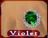 (V) Emerald Lush ring