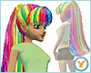 Rainbow Long Pony