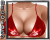 Red Latex Bikini Top
