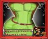 [E] GREEN RUCHED DRESS