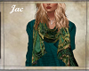 JAC..SCARF TEAL PAISLEY
