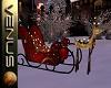 ~V~Reindeer Sleigh Deco
