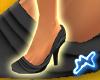 [M] Ruffle Shoes Black