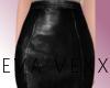 [E] Blk Leather Skirt
