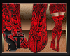 Boots Snake Red