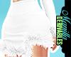 ! Fur Skirt White