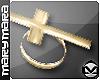 m> Cross Ring Gold