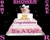 IT'S A GIRL SHOWER CAKE