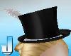 Burlesque Hat - Silver