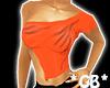 Orange Shoulder Cut Top