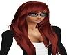 brown-red long hair