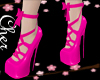laced  pink shoes