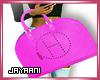Herms Wrist Bag Pink