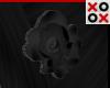Black Rose Hair Clip - L