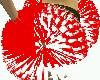 White/Red Pom Poms