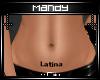 Latina Belly Tattoo