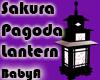 BA Sakura Pagoda Lantern