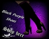 Black Purple shoes