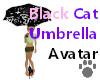 Black Cat Umbrella Ava