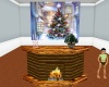 Christmas Wood fireplace