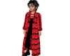 Bat Trench Coat Red