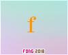 Fo. F Letter Orange