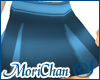 Box Pleated Skirt Blue