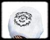{D} White Lion Skull hat