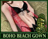 Boho Beach Gown Pink