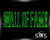 (sins) wall of fame sign