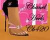 Black & Pink Chanel heel
