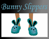 Bunny Slippers-Teal