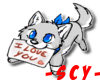 SCY~ I LOVE YOU GREY FOX